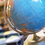 Globe in a school classroom - Britannica ImageQuest