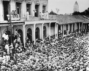 Paying Cuban troops who fought for the US in the Spanish American War, Guantanamo, Cuba, July 1899 - Britannica ImageQuest