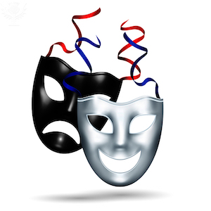 Comedy and tragedy masks - Britannica ImageQuest