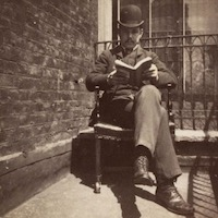 Seated man reading a book, 1888 - Britannica ImageQuest