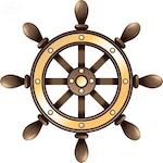Ship's steering wheel - Britannica ImageQuest