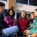 Teenagers hanging out - Britannica ImageQuest