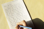 Writing a letter - Britannica ImageQuest
