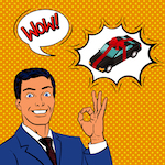 Car as gift comic - Britannica ImageQuest