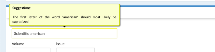 Common error warning - NoodleTools