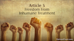 Freedom from Inhumane Treatment - OpinionFront.com