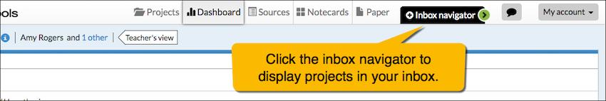 Inbox navigator - NoodleTools
