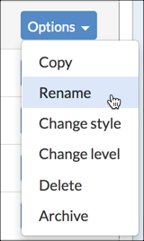 NoodleTools - How to Rename Projects