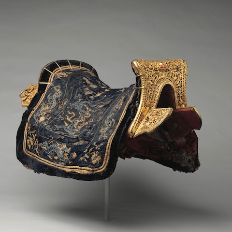 Chinese for the Tibetan market, Saddle, 17th - 18th Century. Image cThe Metropolitan Museum of Art