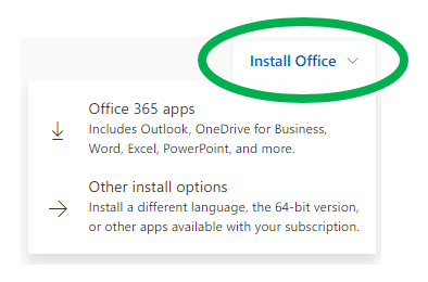 screenshot Install Office