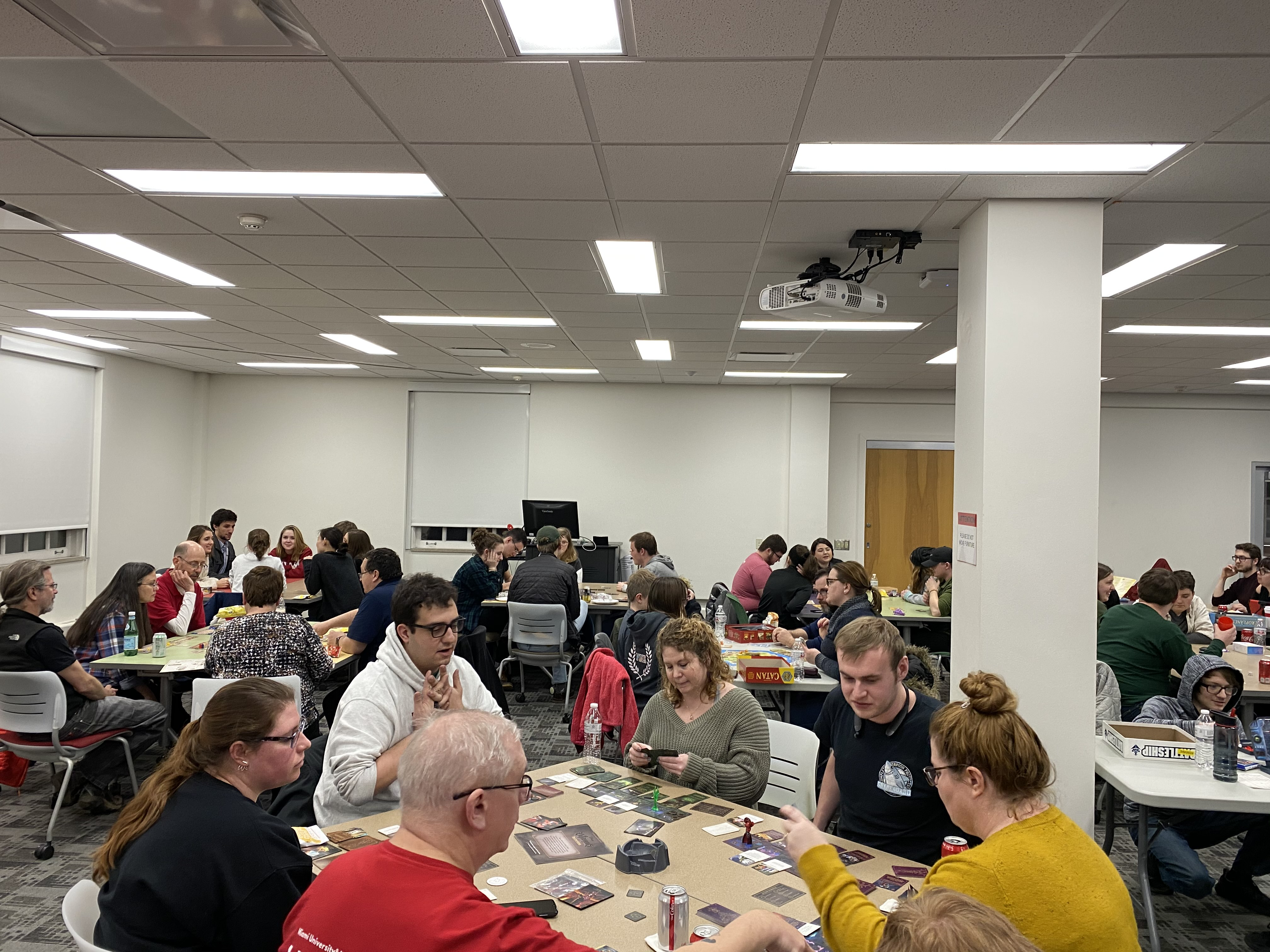 Room full at King Library game night Feb. 8 2020