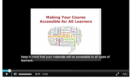 thumbnail of a video about creating accessible online courses