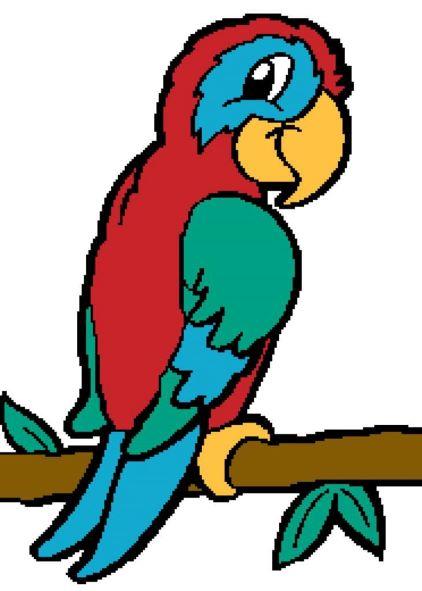 Cartoon image of a parrott