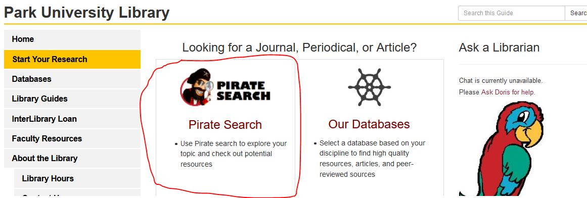 Choose Pirate Search or Our Databases