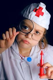 Child dressed as nurse
