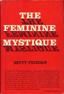 Friedan Feminine Mystique cover art