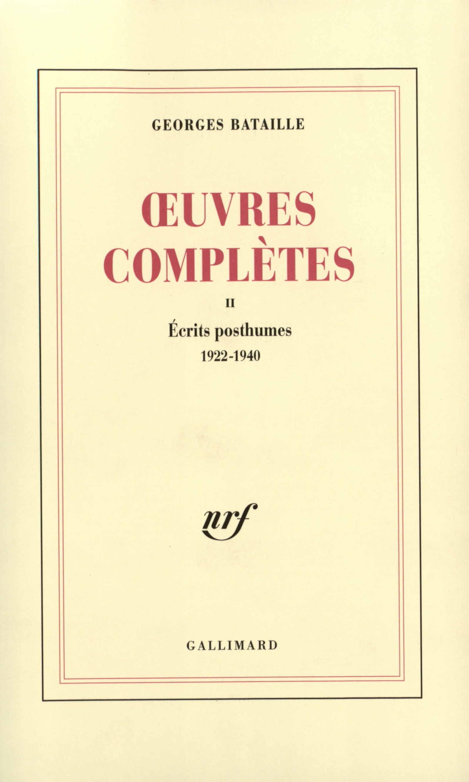 Œuvres complètes  tome 2 Cover art