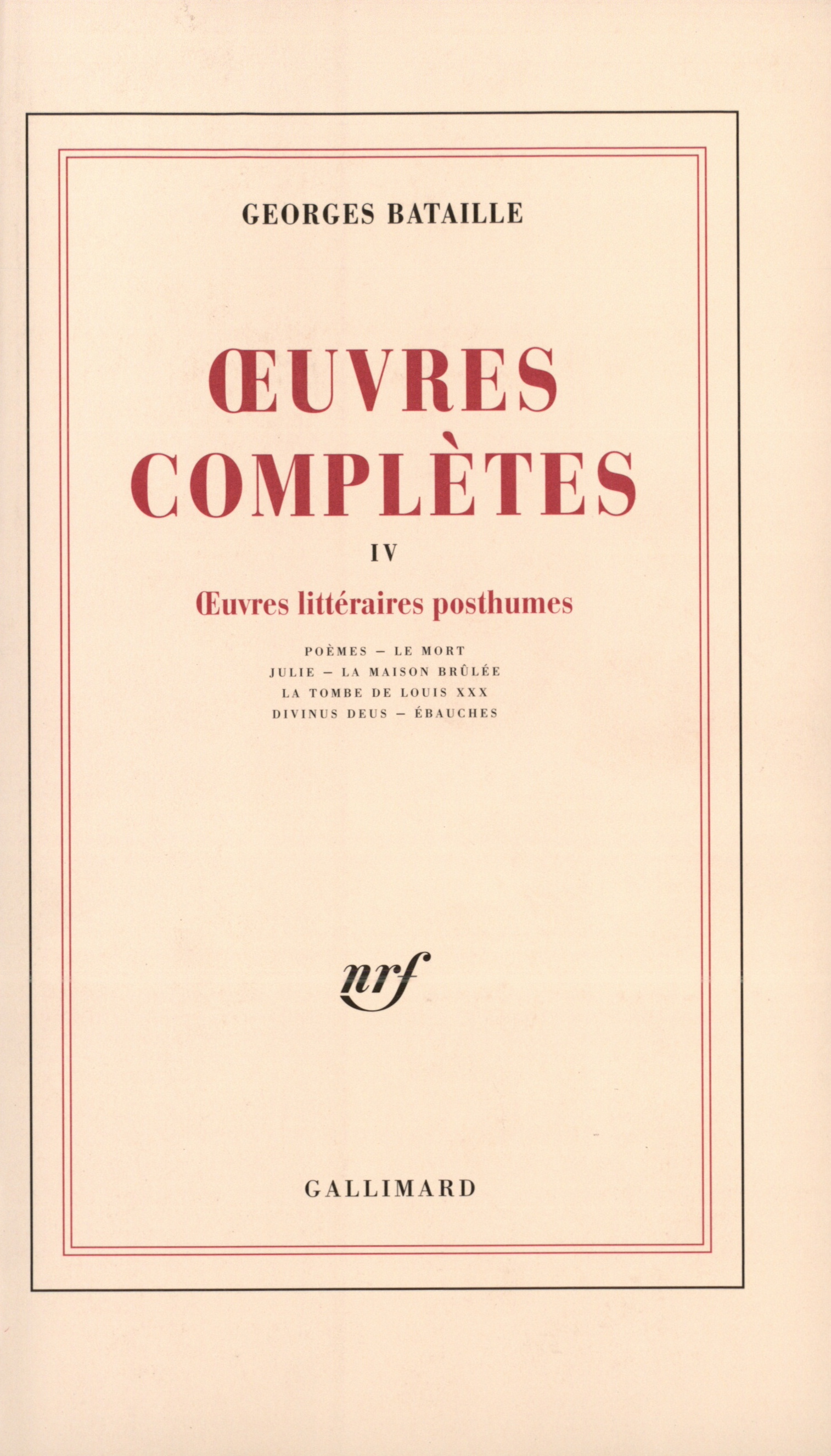 Œuvres complètes, tome 4 Cover art