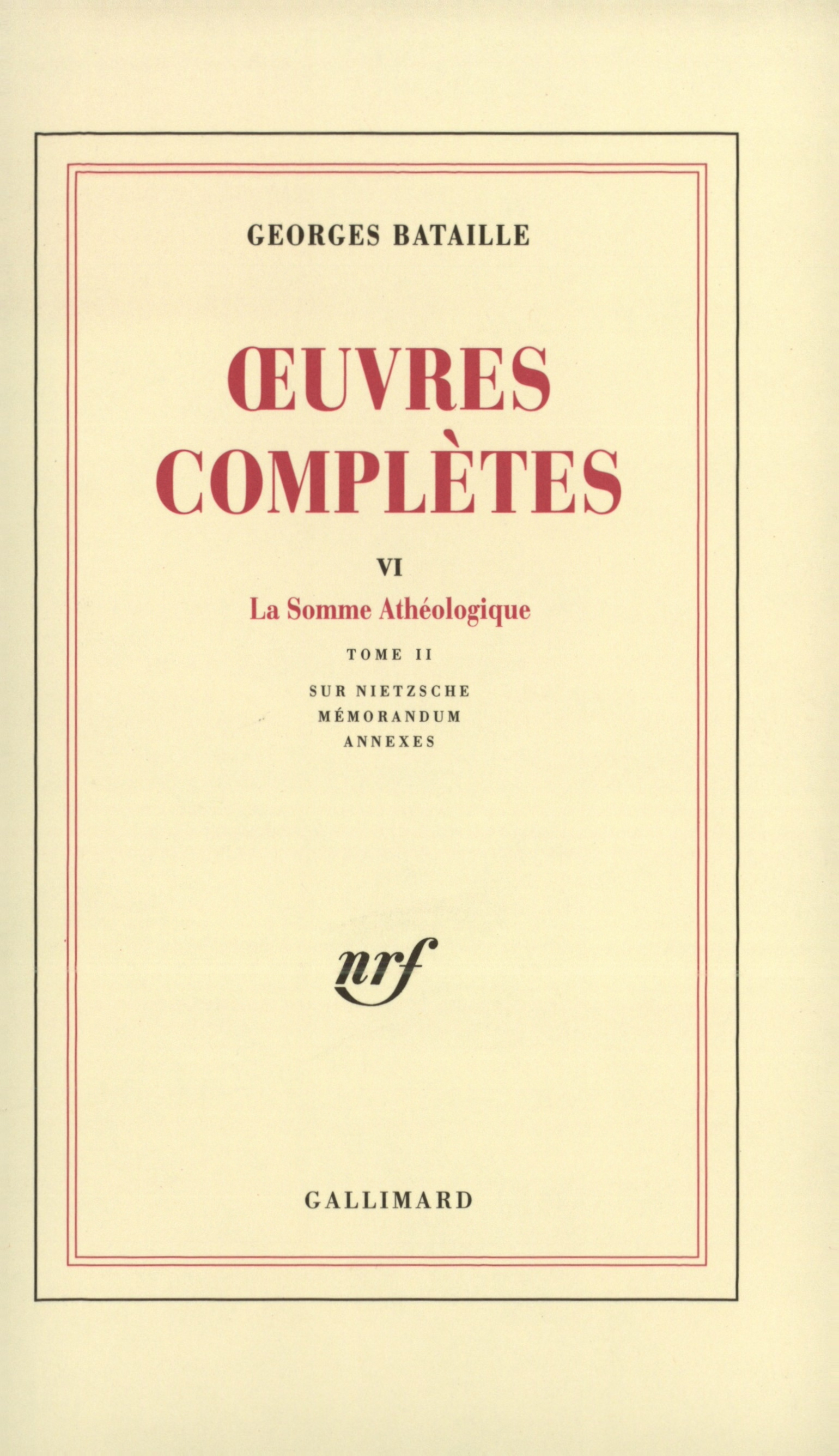Œuvres complètes tome 6 Cover art