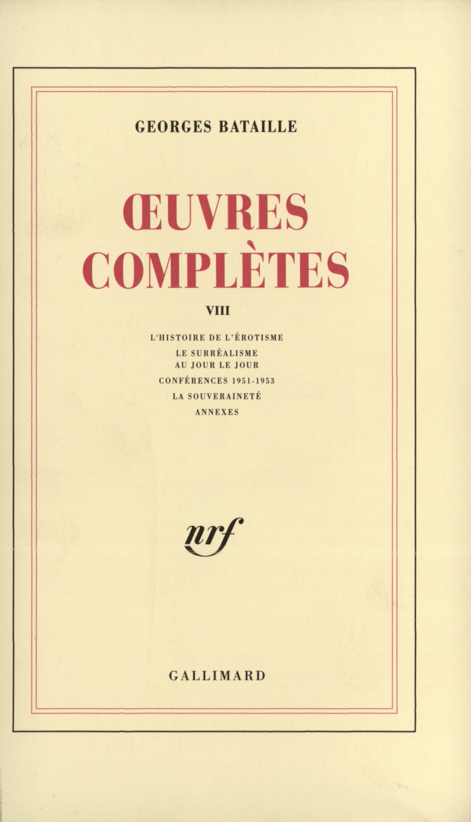 Œuvres complètes tome 8 Cover art