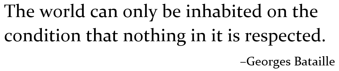 Bataille quote