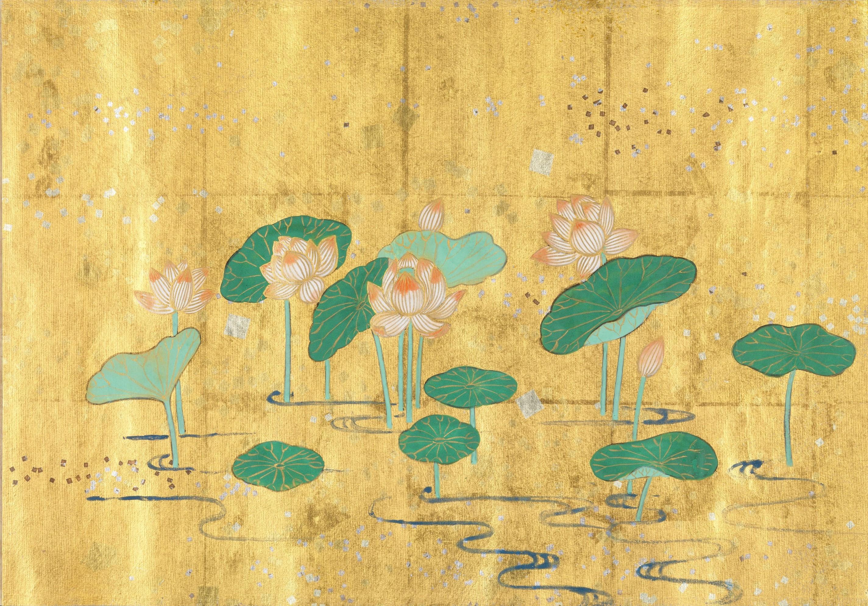 Lotus Sutra gold image
