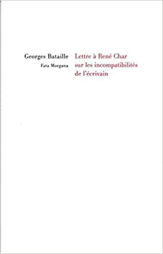 cover art for Lettre à René Char sur les incompatibilités de l'écrivain