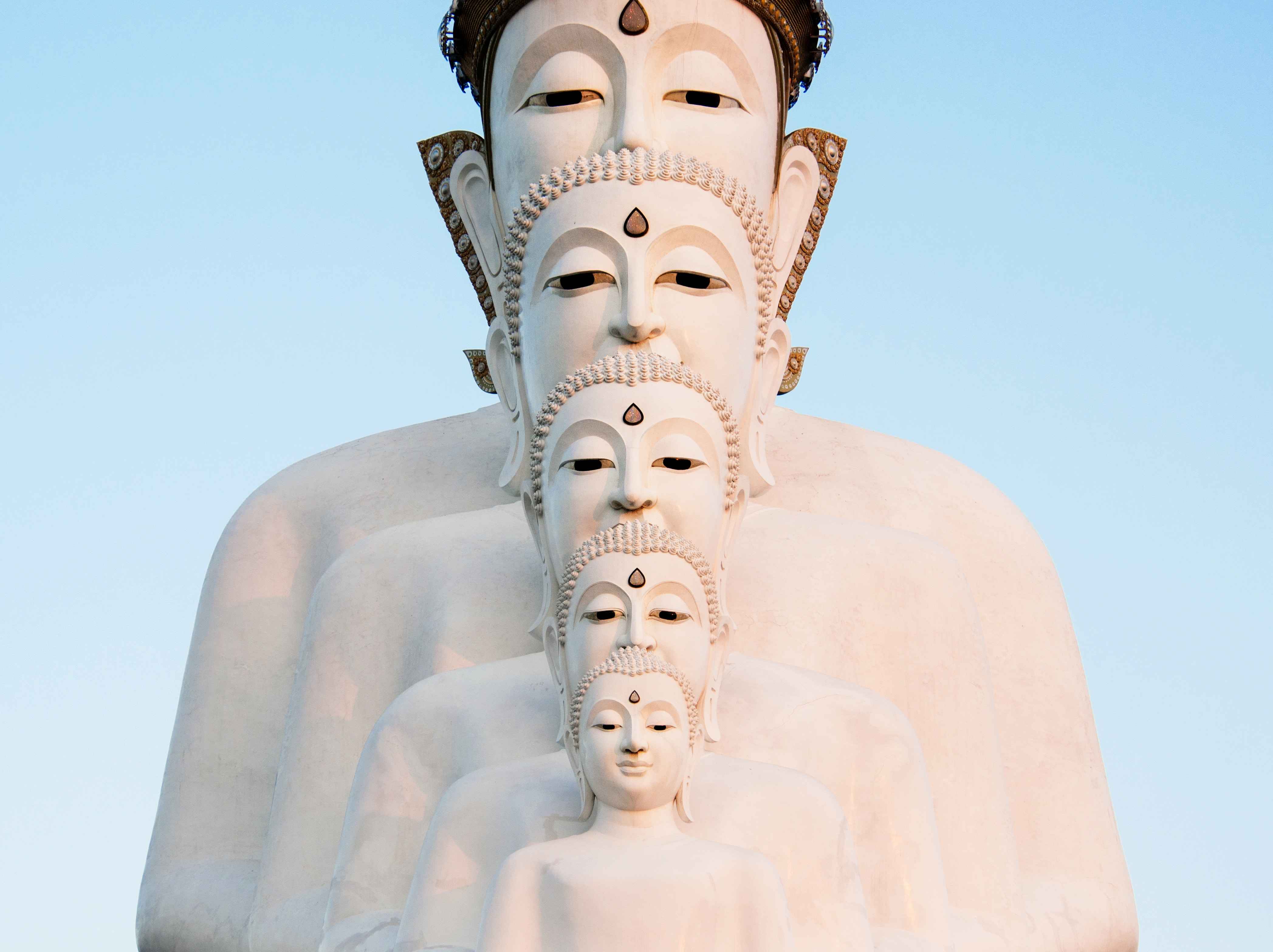 Five Buddhas at Wat Pha Sorn Kaew
