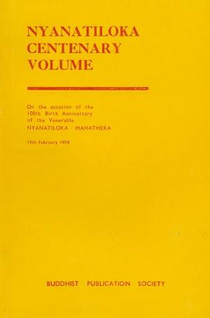 Nyanatiloka Centenary cover art