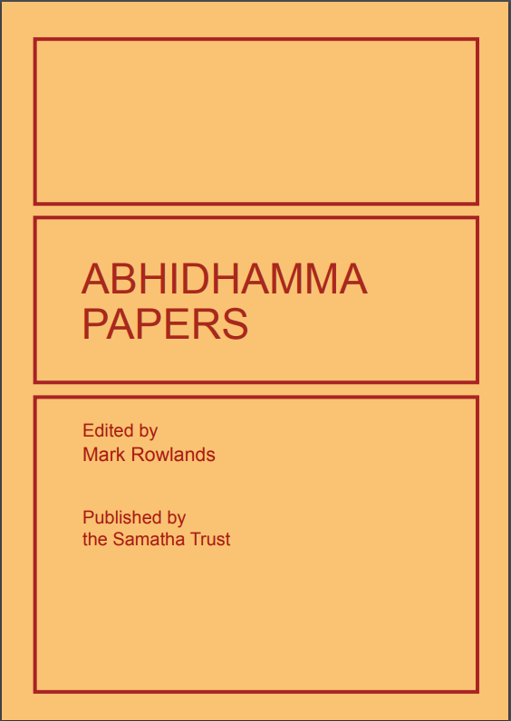 Rowlands Abhidhamma cover art