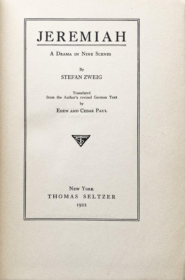 Zweig Jeremiah cover art
