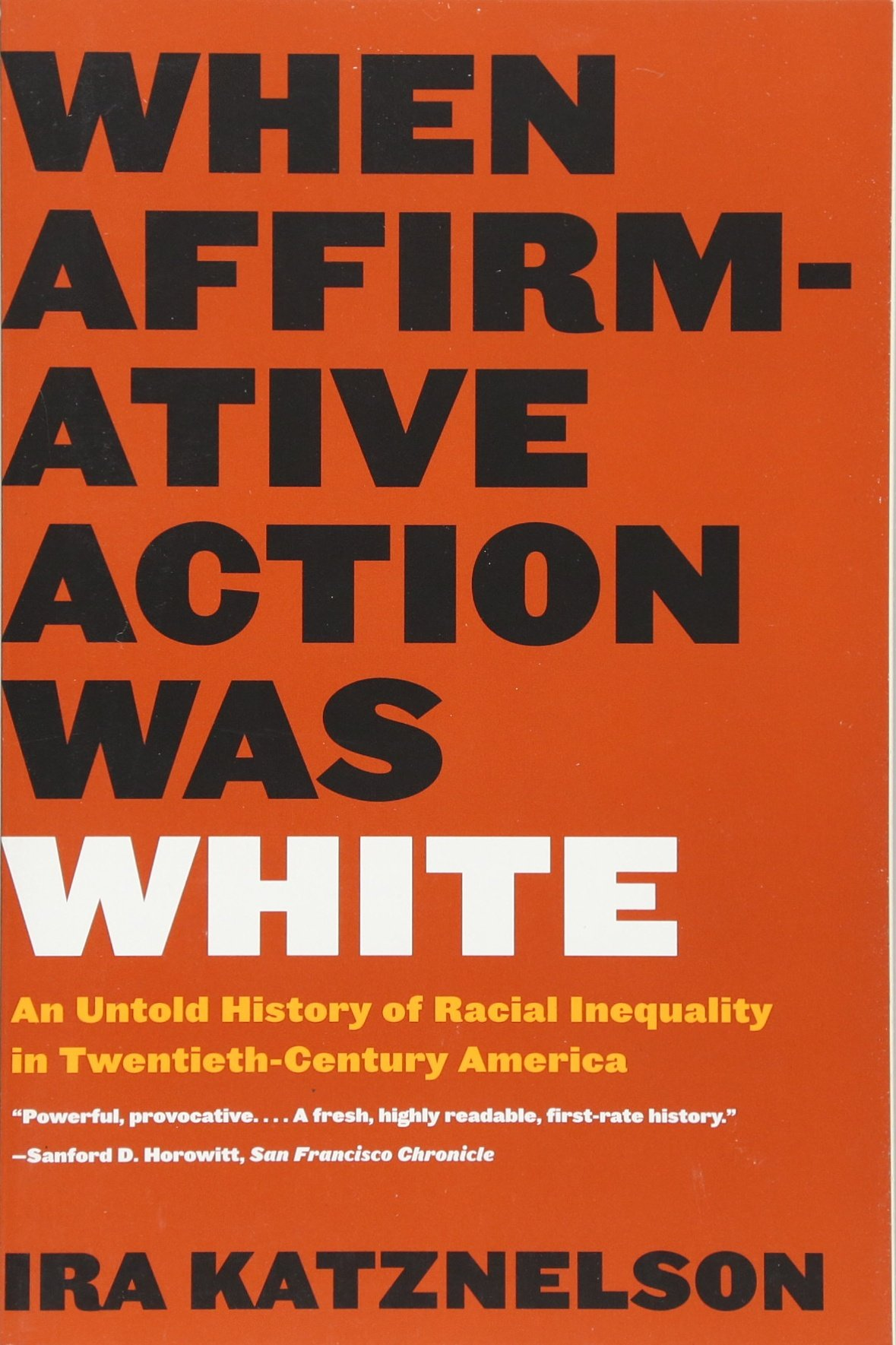 When Affirmative Action Katznelson cover art
