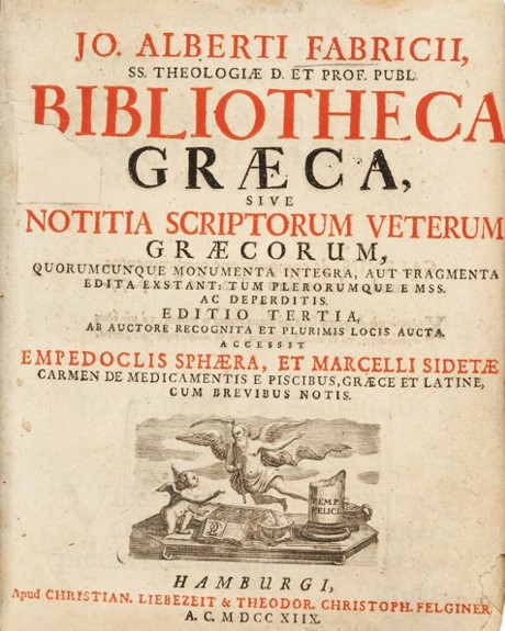 Fabricius Graeca cover