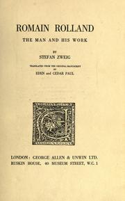 Zweig Rolland cover art