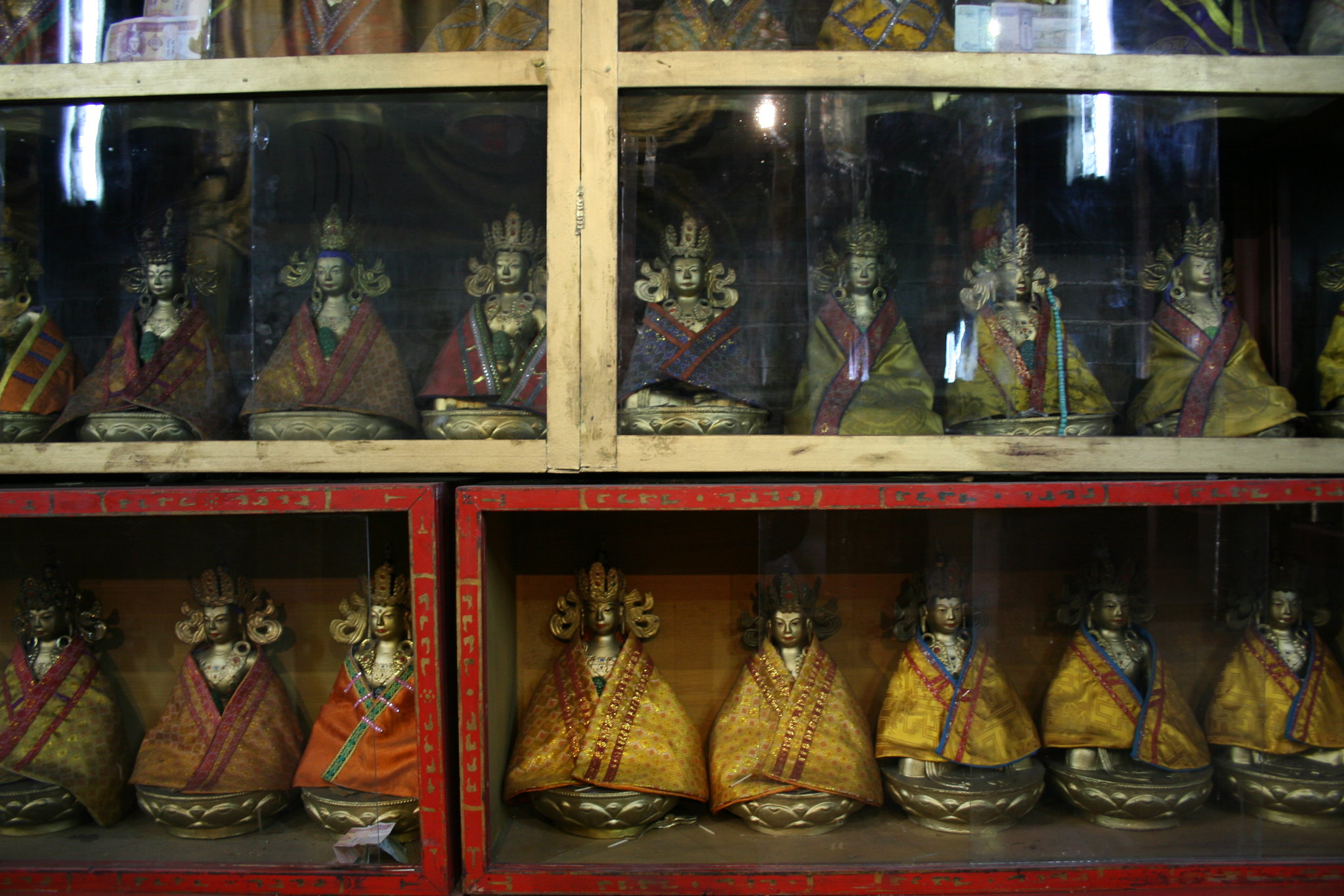 Statues of deities and bodhisattvas in storage, Ulaanbaatar