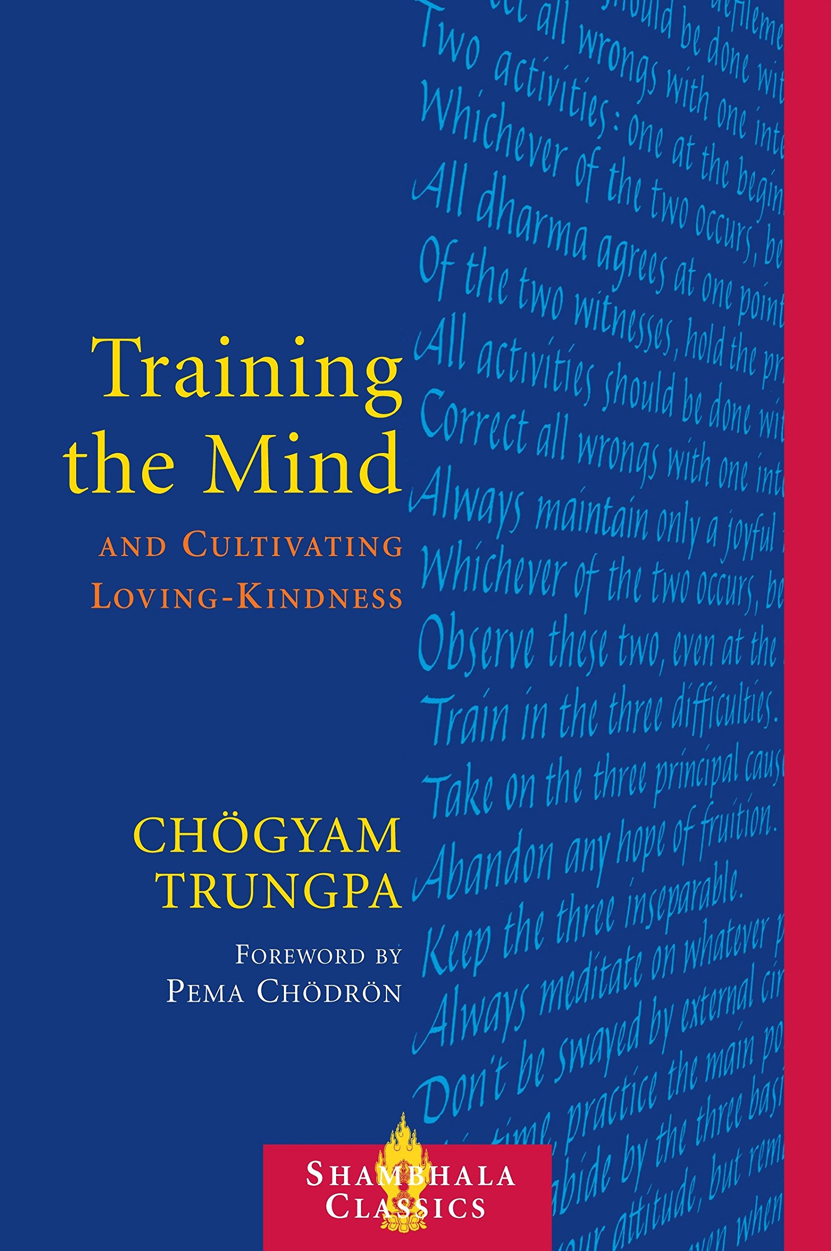 Trungpa Training the Mind cover art