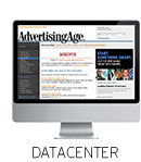 Advertising Age Datacenter website displayed on a computer monitor