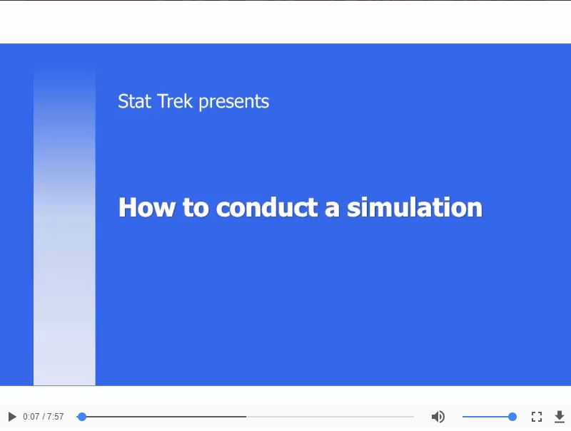 Simulations: Video lesson (0:7:57)