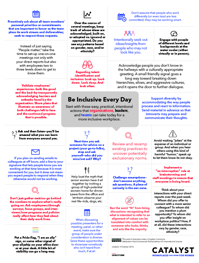 Be Inclusive Every Day. New York: Catalyst