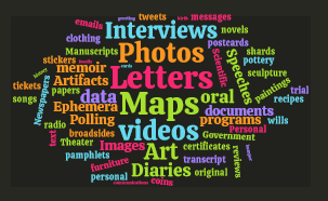 World Cloud of Primary Source Examples
