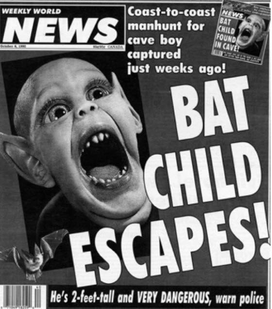Bat child tabloid