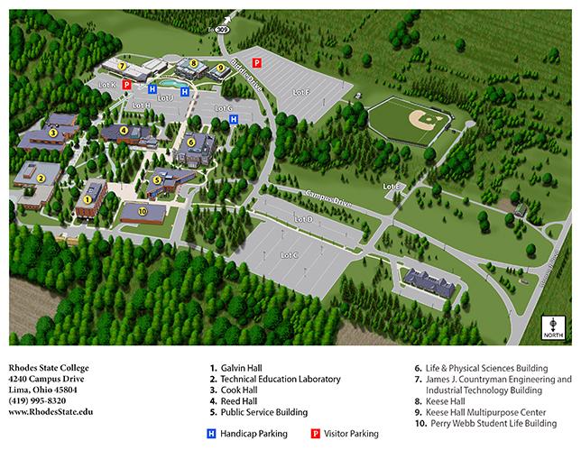 Rhodes State College Campus Map