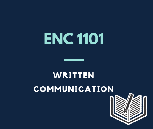 Clicking this box will take you to the ENC 1101 - Written Communications Guide for the SCF library