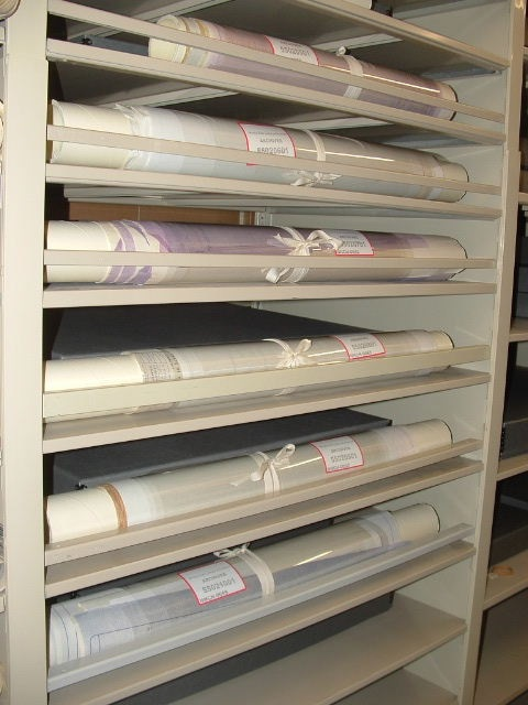 Maps being stored