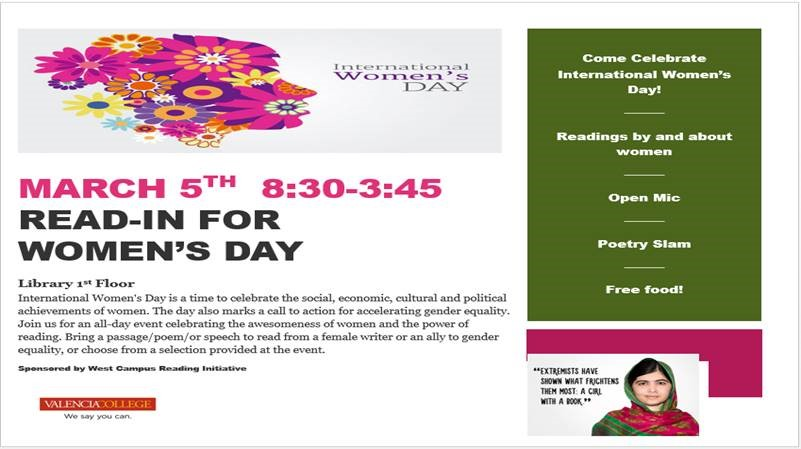 International Women's Day Event Flyer
