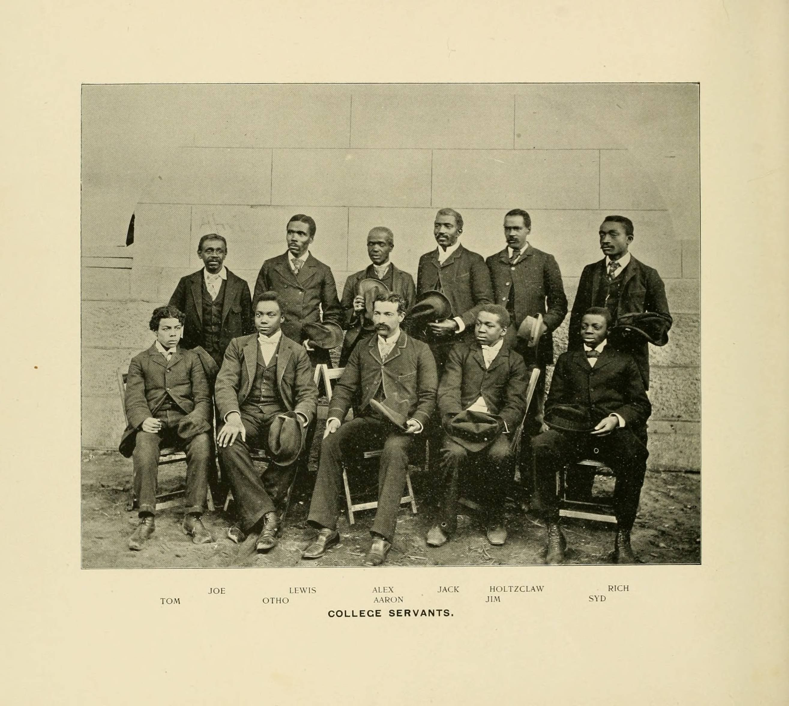 photograph of servants in the 1895 Quips and Cranks