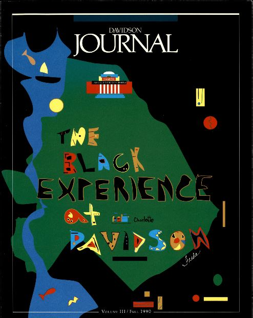 Cover of fall 1990 edition of the Davidson Journal titled The Black Experience at Davidson College