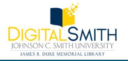 Digital Smith logo for Johnson C Smith University digitized archival material