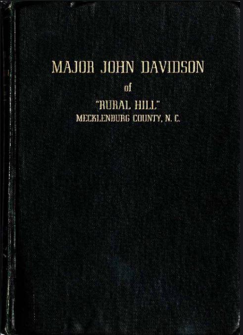book cover of Major John Davidson of Rural Hill