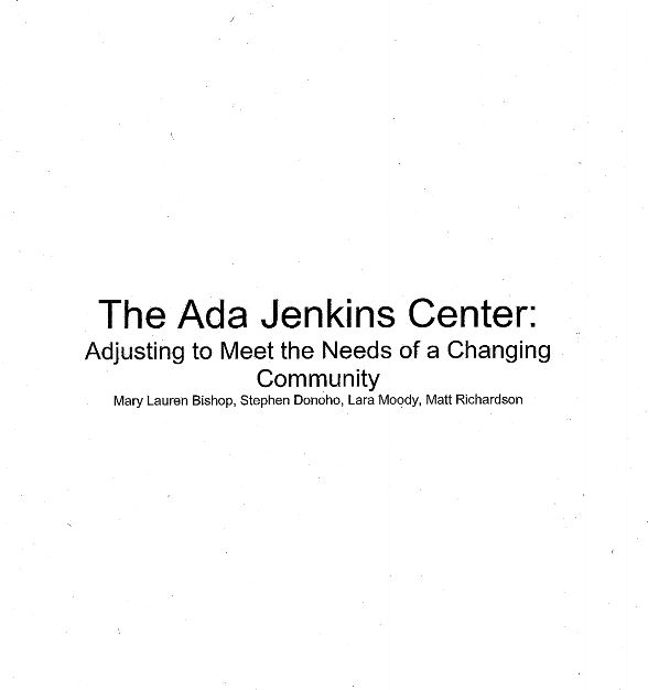 ada jenkins center paper cover page
